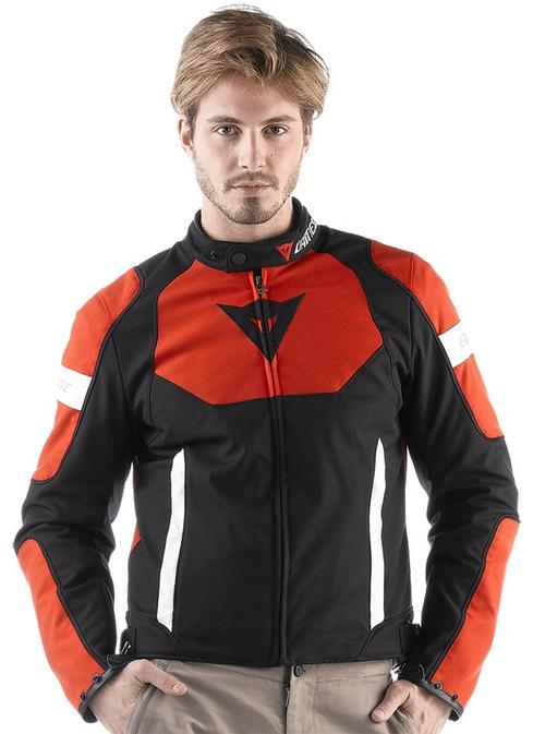 Giacca moto Dainese Avro Tex nero-rosso-bianco