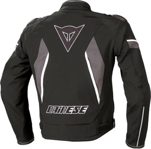 Dainese Aspide Tex motorcycle jacket black-black-gray