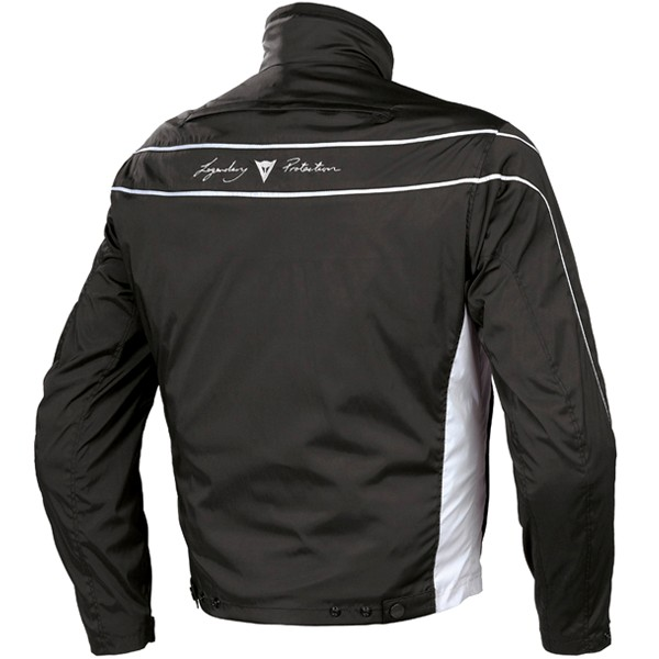 Dainese Tron 2 Tex motorcycle jacket black high rise