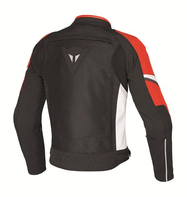 Giacca moto Dainese AIR-3 TEX nero-rosso-bianco