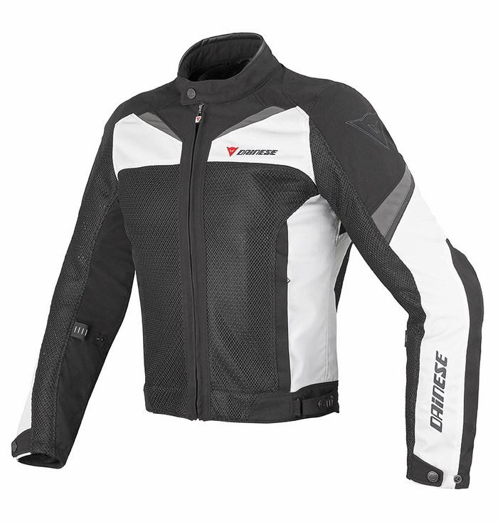 Motorcycle jacket Dainese Air Tex 3 Black White Dark gull gray