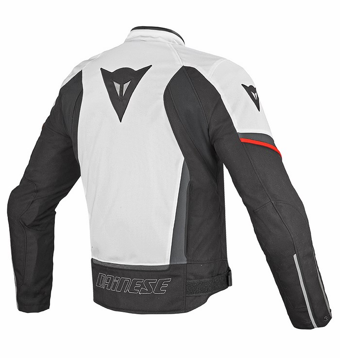 Tex jacket Dainese Chrono White Black Red