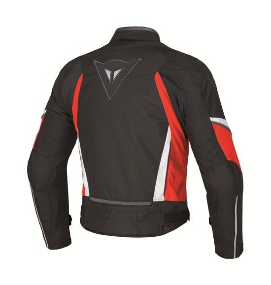 Dainese Crono Tex Lady motorcycle jacket black red white