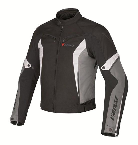 Dainese Crono Tex motorcycle jacket black castle rock white