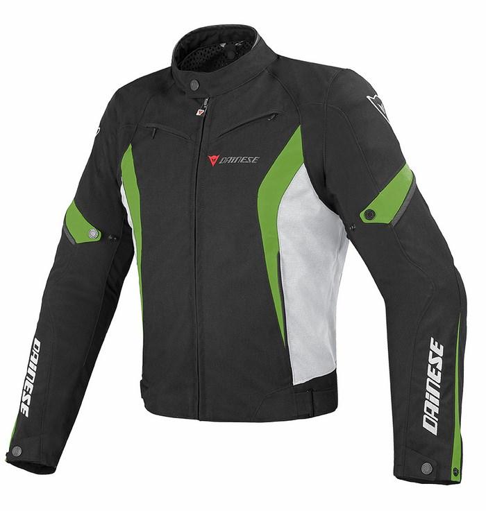 Giacca moto Dainese Crono Tex Nero Bianco Verde