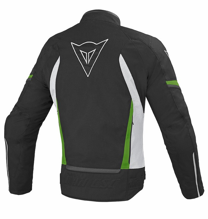 Tex jacket Dainese Chrono Black White Green