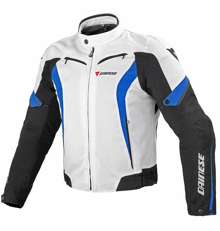 Giacca moto Dainese Crono Tex Bianco Nero Blu