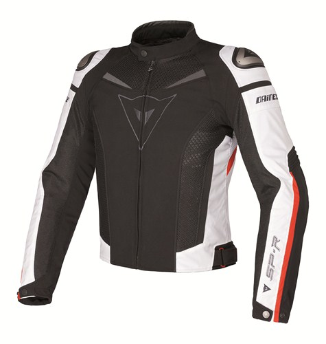 Dainese Super Speed Tex motorcycle jacket black-white-blue