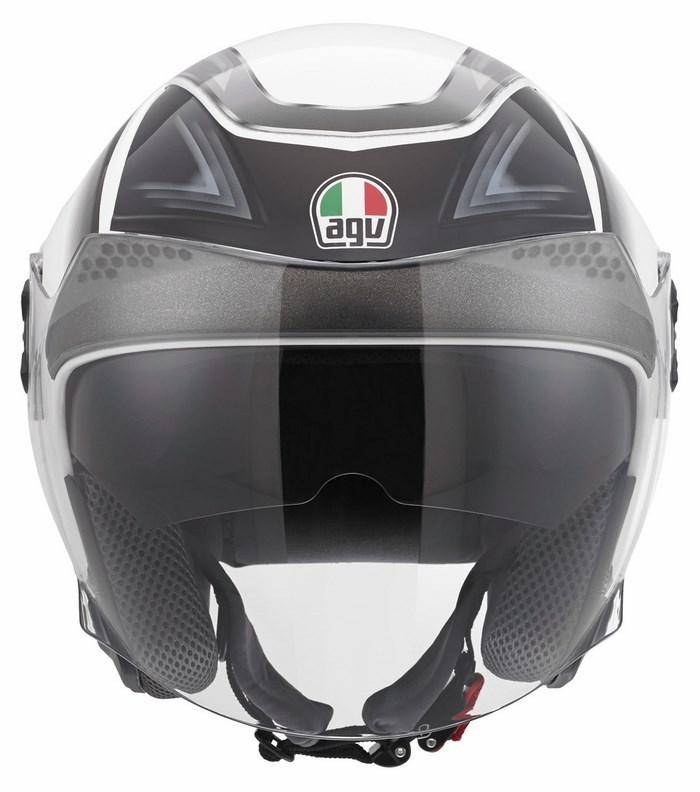 Casco moto Agv City New Citylight Multi Urbanrace bianco gunmeta