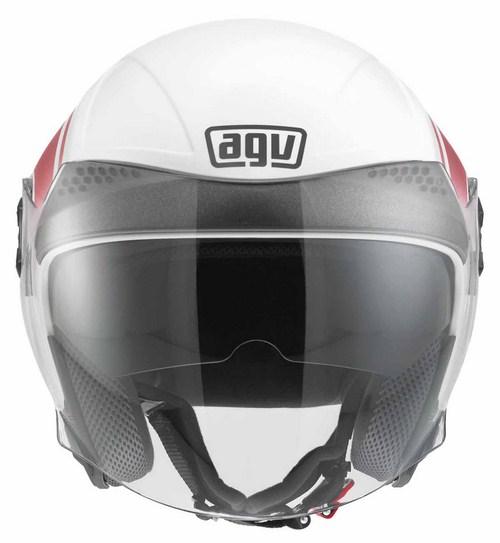 Casco moto Agv New Citylight Multi World bianco-rosso