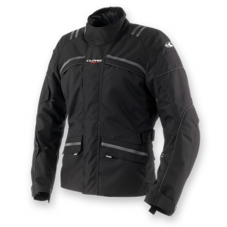 Motorcycle jacket Waterproof WP Black Clover Storm