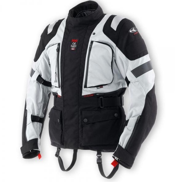 Clover Road WP Level 1 Waterproof Motorcycle Jacket Black Grey
