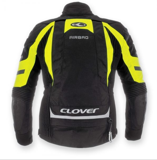 Clover Crossover Airbag jacket Black Yellow