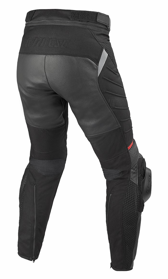 Pants Dainese Air Frazer leather and fabric Black