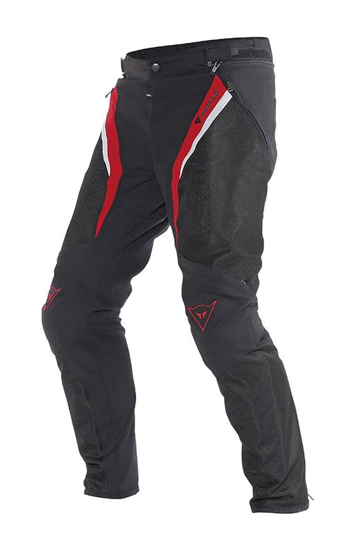 Pantaloni moto estivi Dainese Drake Super Air Tex Nero Rosso Bia
