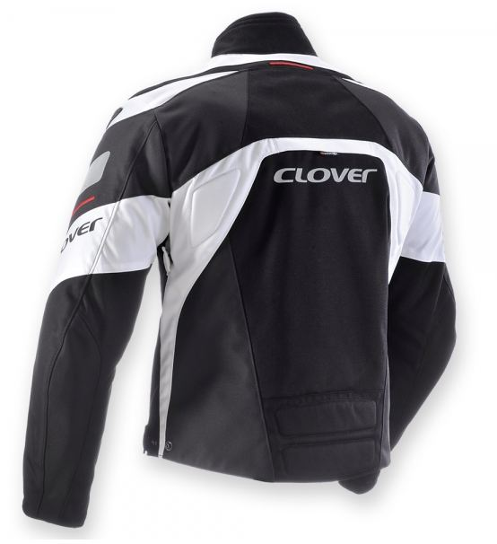 Giacca moto Clover GP-2 Nero Bianco