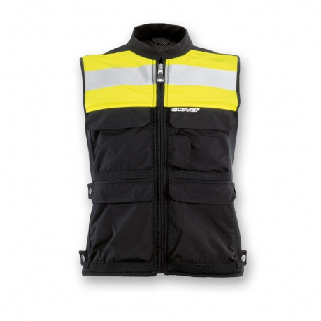 Clover Plug and Play Motorcycle Vest Black Yellow