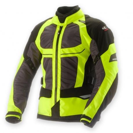 Motorcycle Airbag Jacket Clover Ventouring WP Black Yellow