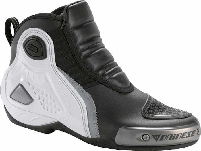Dainese Pro Dyno C2B Shoes Black White Silver