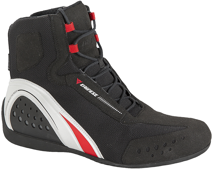 Dainese Motorshoe D-WP shoes Black White Red