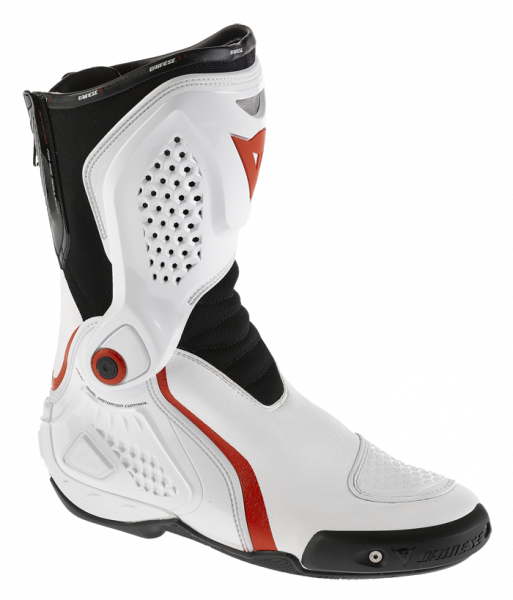 Dainese TRQ-Race Out motorcycle boots white-red