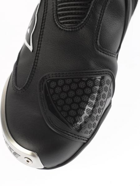 Dainese Axial Pro in motorcycle boots white-black