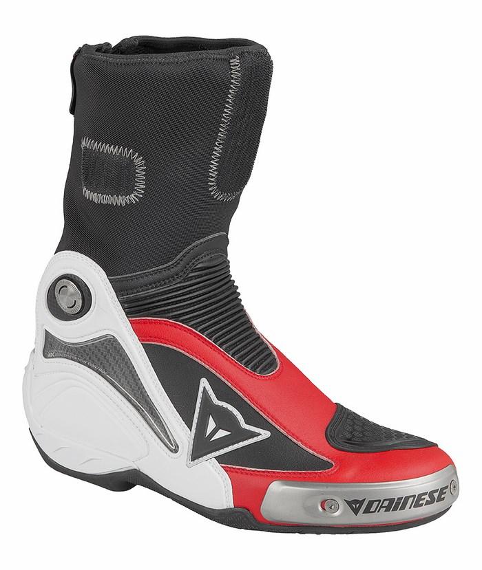 Stivali moto Dainese Axial Pro In Bianco Rosso