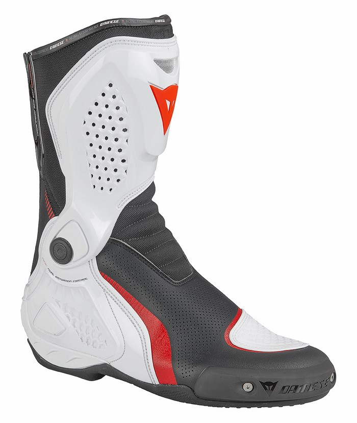 Motorcycle boots Dainese TR-Out Course Air Black White Red