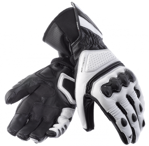 Dainese Pro Carbon motorcycle gloves white-black-black