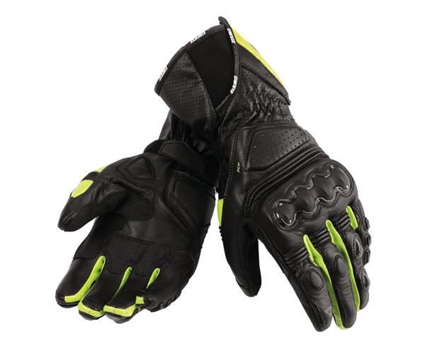 Guanti moto Dainese Pro Carbon nero-nero-giallo fluo