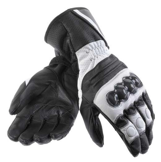 Dainese Redgate motorcycle gloves white-black-carbon