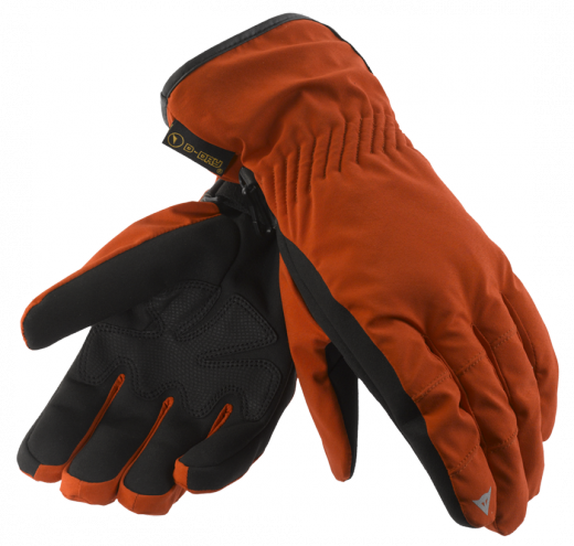 Dainese Kansas D-Dry motorcycle gloves red-black