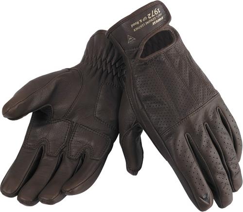 Dainese Dakota leather summer gloves brown