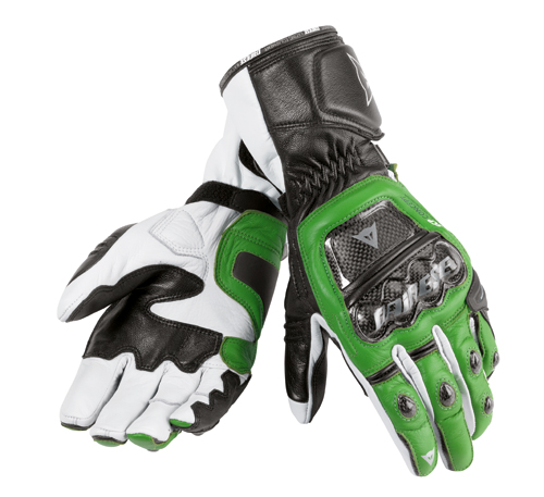Dainese Druids motorcycle gloves green-black-white