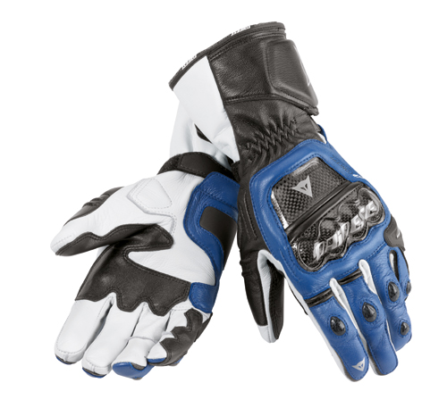 Dainese Druids motorcycle gloves blue-black-white