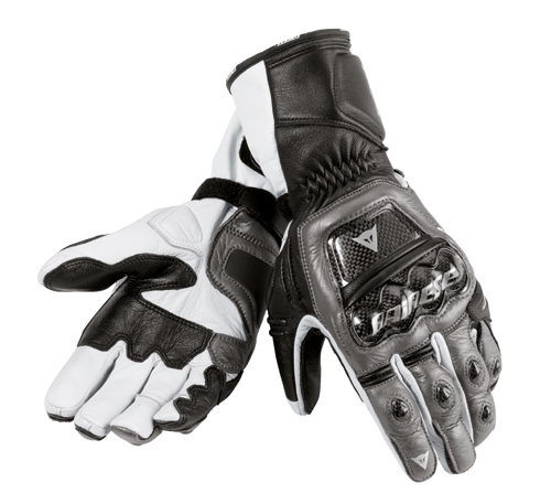Dainese Druids motorcycle gloves carbon-black-white