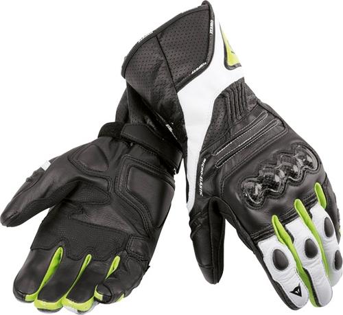 Guanti moto pelle Dainese VR46 Sport nero-giallo fluo