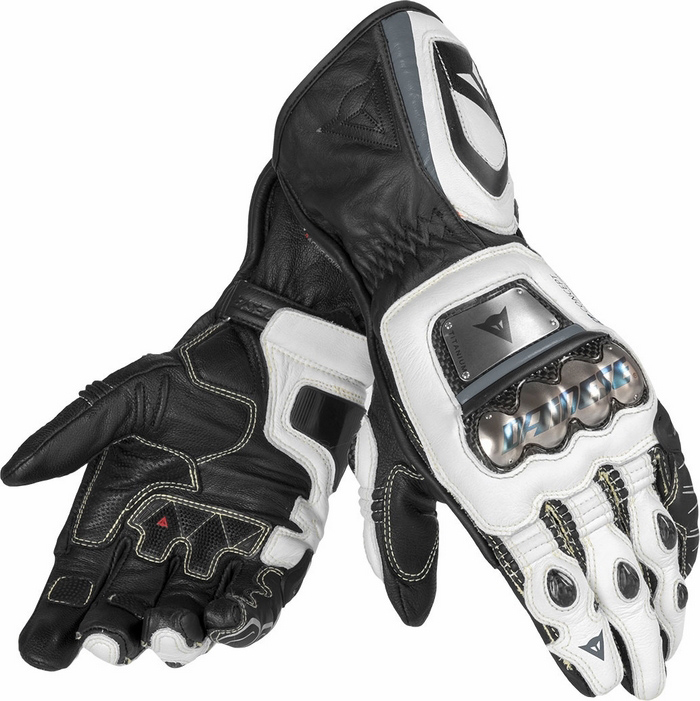 Guanti moto pelle Dainese Pro Metal RS Nero Bianco Antracite