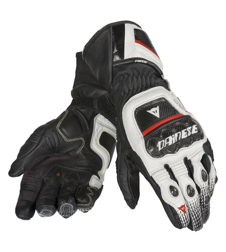 Dainese Druids ST leather gloves black-white-red