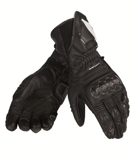 Dainese Carbon Cover ST Lady leather gloves black-black-black