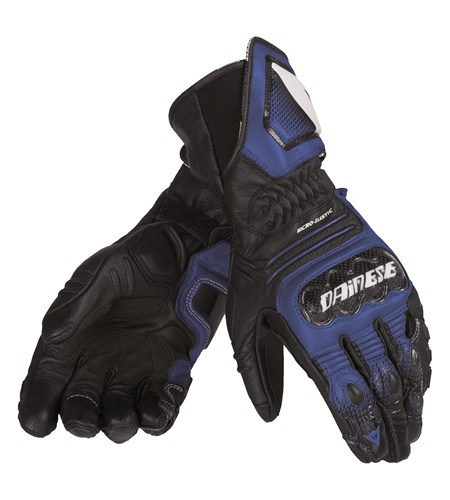 Dainese Carbon Cover ST Lady leather gloves black-blue-white