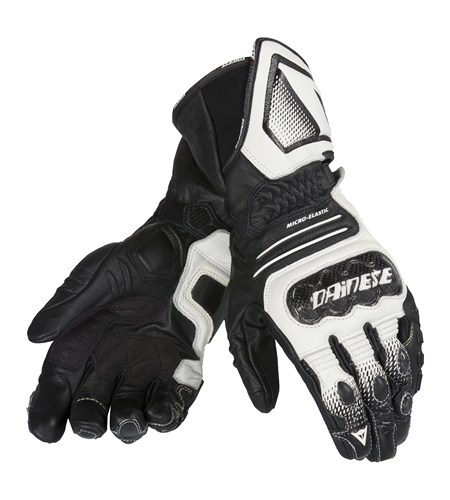 Dainese Carbon Cover ST Lady leather gloves black-white-black