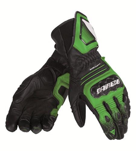 Guanti moto pelle Dainese Carbon Cover ST nero verde bianco