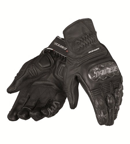 Dainese Carbon Cover S-ST Lady leather gloves black-black-black