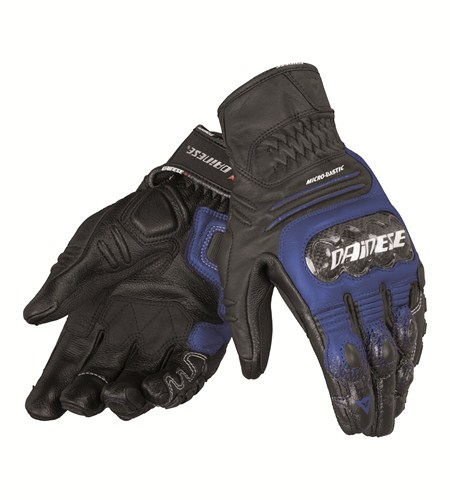 Dainese Carbon Cover S-ST leather gloves black-blue-white