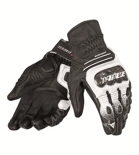 Guanti moto pelle Dainese Carbon CoverS-ST nero bianco nero