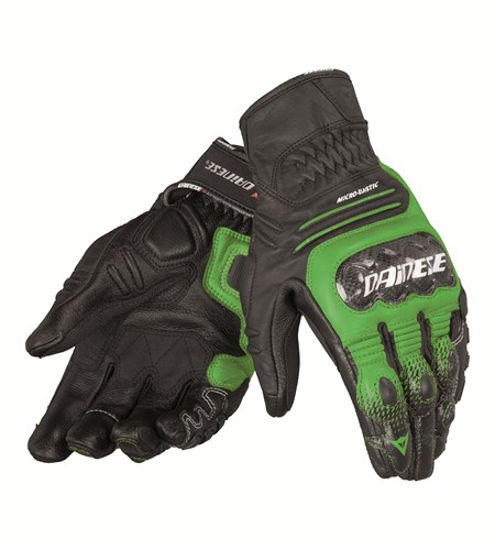 Dainese Carbon Cover S-ST leather gloves black-green-white