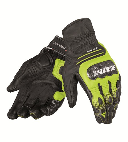 Dainese Carbon Cover S-ST leather gloves black-yellow-white
