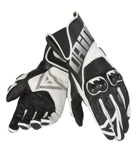 Dainese Crono leather gloves black-white
