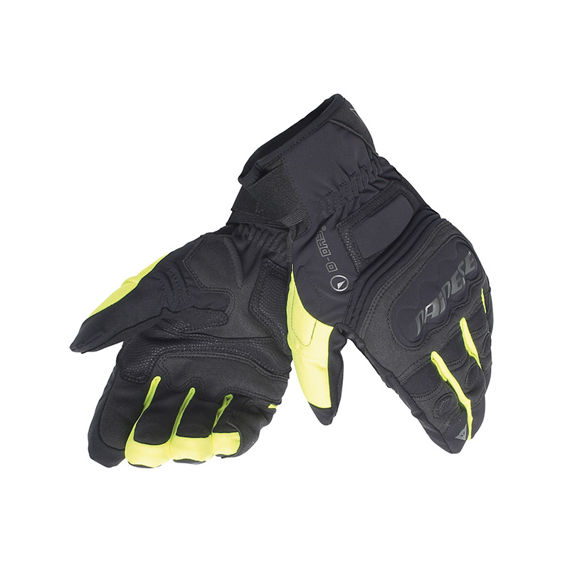 Dainese Clutch Evo D-Dry winter gloves Black Yellow
